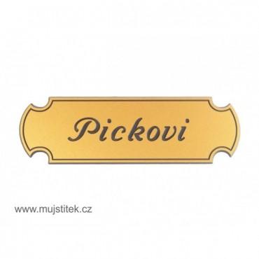 Plastová jmenovka na dveře zlatá - 4