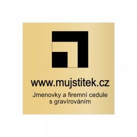 Zlatá označení sídla firmy s potiskem na míru, který si navrhnete online na eshopu