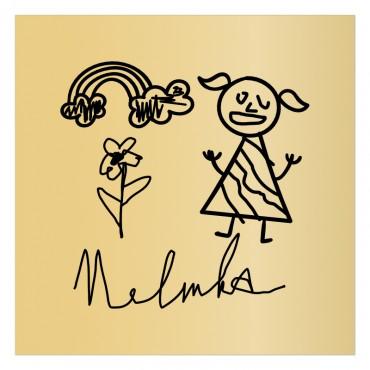 Cedulka na dveře dětského pokojíčku s dětskou kresbou Nelinky